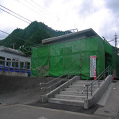 ハーブの湯道案内岩原スキー場前駅